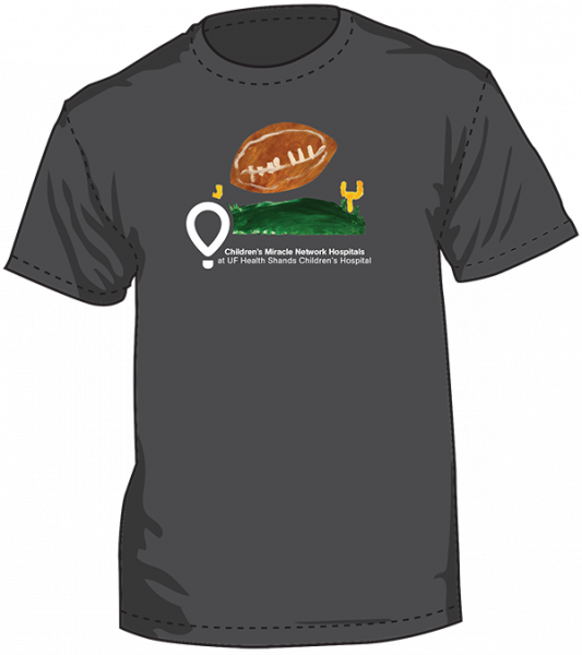 Gray short-sleeve, football