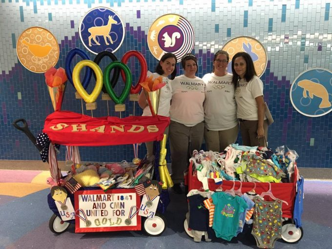 Check out the amazing wagons and goodies donated to UF Health Shands Children's Hospital from our friends at Walmart!