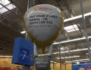 Balloons out on display at an area Walmart.