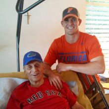 Florida Gators Football punter Johnny Townsend with his grandfather